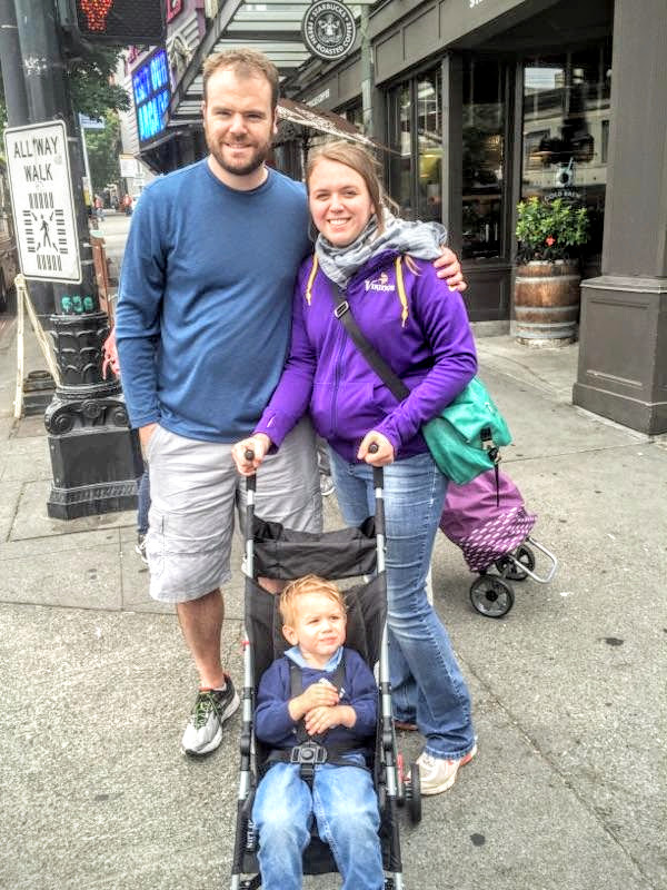 Family enjoying a cool day in Seattle.