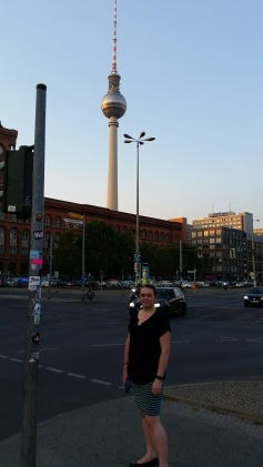 Lauren exploring Berlin for the first time.