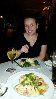 Our first dinner in Germany... Reinhard's Restaurant. I had a stew of some sort.