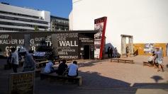 The Berlin Wall exhibit.