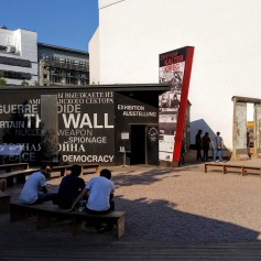 The Berlin Wall exhibit.
