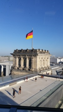 View from the roof of the Reichstag Building