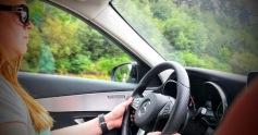 Lauren drives the Autobahn