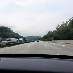 A brief moment of open roads on the Autobahn