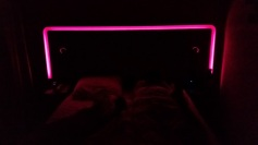 Our glowing color-changing bed in Nuremberg