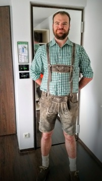 Ryan in his lederhosen