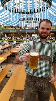 First beer of the morning. Prost!