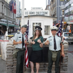 Guards at the checkpoint. They didn't used to let you take photos with them at the real checkpoint.