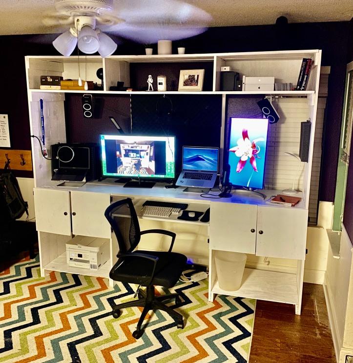 custom homemade workstation desk